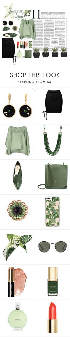 """""""Summer Style"""" by gemique ❤ liked on Polyvore featuring Sans Souci, Marni, INC International Concepts, Nicholas Kirkwood, Casetify, Lulu in the Sky, Ray-Ban, Bobbi Brown Cosmetics, Dolce&Gabbana and Chanel"""