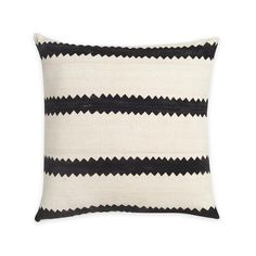 Charlie Brown Striped Mudcloth Pillow by Consort