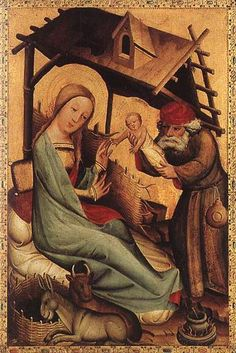 Master Bertram of Minden (tedesco 1345-1415) - Natività, panel from Grabow Altarpiece - 1383 - Hamburger Kunsthalle