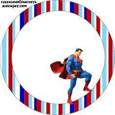 Super Homem – Kit Completo com molduras para convites, rótulos para guloseimas, lembrancinhas e imagens! | Fazendo a Nossa Festa