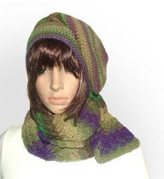 multi beanie scarf set #crochet beanie be Renate Kirkpatrick