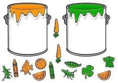 * Doe alles in de juiste verfpot! Preschool Color Activities, English Activities, Kids Learning Activities, Montessori Activities, File Folder Activities, File Folder Games, Teaching Colors, Education, Color Poem