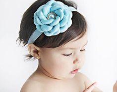 Light Blue Flower Headband - Blue Flower Headband - Baby Flower Headband - Toddler Headband - Flower Headband - Baby Headband