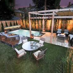 If you are lucky enough to have a backyard, you have many possibilities. Even when you have a small backyard you can still fit into a small pool. When you have a small backyard, you can still get i… Small Backyard Design, Backyard Pool Designs, Small Backyard Landscaping, Patio Design, Backyard Patio, Landscaping Ideas, Patio Ideas, Small Patio, Small Backyard With Pool