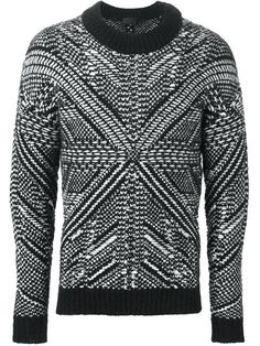 intarsia knit sweater                                                       …