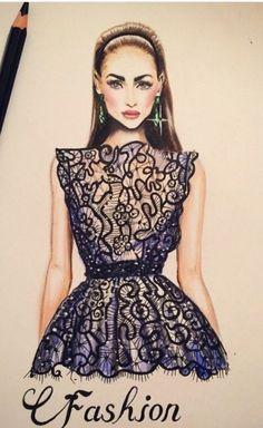 Be Inspirational ❥ Mz. Manerz: Being well dressed is a beautiful form of confidence, happiness & politeness Illustration Mode, Fashion Illustration Sketches, Fashion Sketches, Design Illustrations, Fashion Art, Love Fashion, Girl Fashion, Fashion Outfits, Stylish Outfits
