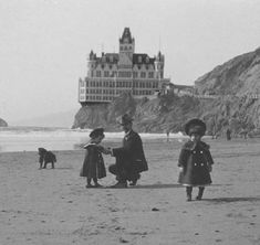 J.B. Monaco (1856-1938) Collection who was a photographer who captured early San Francisco. This is the Cliff House.