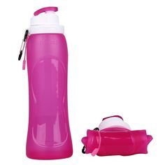 silicone foldable water bottles,safe bpa free reusable collapsible water bottle