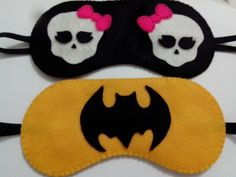 Máscaras de dormir Monster Hight e Batman Pontos de Amor by Jéssica