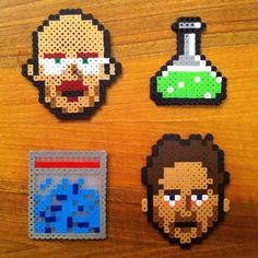 "How to: Make 8-Bit ""Breaking Bad"" Perler Bead Pixel Art"