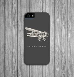 iPhone 5 Cases - Vintage Airplane, Personalized Cell Phone Cover, Hard Shell iPhone 4 / 4S, Galaxy S3 / S4, iPod Touch, iPhone 5S on Etsy, $29.00