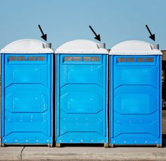 If everyone puts the lid down in a porta-potty, the smell will vent out the pipe that leads to the top.