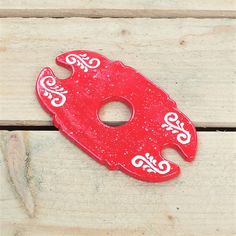 Wine Glass Holder  Glaze: Red Sprinkles ~ Ginger Spice Collection