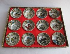 ancient-China-glaze-porcelain-delicate-small-bowl-12-zodiac-signs-Tea-set