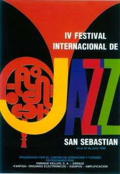 San Sebastian's Jazz Festival poster 1969