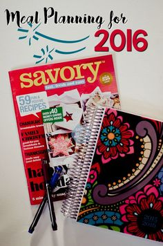 Meal Planning for 2016 with #SavoryMagazine! #sponsored