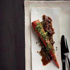 Braised Carrots with Lamb | Dan Barber's brilliant recipe makes braised carrots the star and lamb the accompaniment.