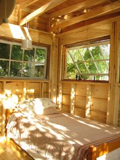 Donna Irvine in Northern Ontario: This cabin in Sunset bad has repurposed palettes as the floor, with windows and skylight recycled from an old family hunt camp and white spruce siding from a local sawmill. I spent 30 minutes reading through her blog — mycabininthewoods.tumblr.com — which explains all aspects of her property including construction of the cabin, gardening and family life.