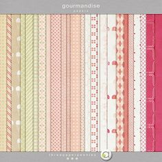 gourmandise paper collection