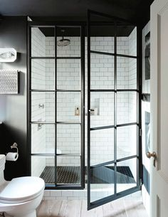 40 awesome farmhouse shower tile decor ideas - Modul Home Design Bathroom Shower Doors, Bathroom Flooring, Bathroom Ideas, Bathroom Designs, Shower Ideas, Bathroom Vanities, Bath Ideas, Shower Window, Bathroom Cabinets