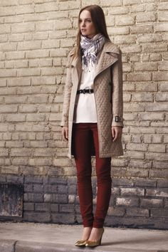 Thinking about colored skinnies for fall...this red is my top pick right now.