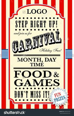 carnival flyer template buy this vector on shutterstock find other images