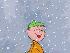 MOVING Photo of Linus Licking Snowflakes