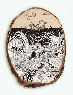 Blog: Intricate Drawings on Wood - Doodlers Anonymous