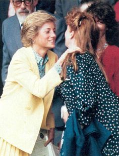 Diana and Sarah Ferguson at Wimbledon 1988