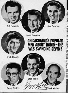 WLS radio DICK BIONDI -  Remember listening to him on weekends while cruising