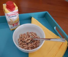 Healthy breakfast ideas: use premier protein shakes instead of milk in cereal Bariatric Recipes, Diabetic Recipes, Healthy Dinner Recipes, Bariatric Food, Bariatric Surgery, Drink Recipes, Breakfast Ideas, Breakfast Recipes, Breakfast Cereal
