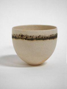s-c-r-a-p-b-o-o-k:  Jennifer Lee - Pale, olive and speckled bands, 2008 stoneware