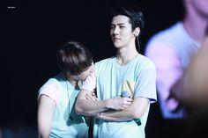 Your strong sehun ❤️❤️❤️ #baekhyun #exo #byunbaekhyun #baekhyun cute