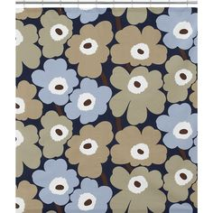 Marimekko Unikko Dusk Shower Curtain