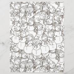 Spend some time relaxing with this coloring page for adults. You can  select paper type and size from the menu. Put the finished coloring page  in a journal or frame it to hang on your wall. Great way to destress. #zazzlemade #coloring #coloringpage #coloringpattern #scrapbook #scrapbooking #scrapbookpaper #journal #journaling #journalpage #xmas #snowman #snowmen Handmade Christmas Crafts, Scrapbook Paper, Scrapbooking, Crayon Painting, Get Well Gifts, Destress, Lake Erie, Cleveland Ohio, Artist Gallery