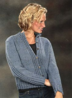 Mock Cable Cardigan