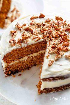 Easy Moist Carrot Cake   cafedelites.com