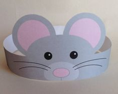 Mouse Paper Crown – Printable Create your own Mouse Crown! Print, cut & glue your crown together & adjust to fit anyones head!Bunny Paper Crown Printable by PutACrownOnIt on EtsyBrowse unique items from PutACrownOnIt on Etsy, a global marketplace of han Mouse Crafts, Hat Crafts, Diy And Crafts, Crafts For Kids, Arts And Crafts, Crown Printable, Paper Crowns, Animal Crafts, Printed Materials