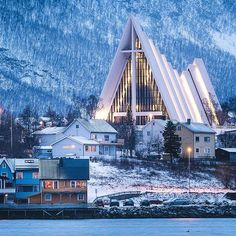 Here is a treasure trove of 28 beautiful travel words and wanderlust synonyms that describe how we feel before, during, and after we travel. Sacred Architecture, Church Architecture, Tromso, Travel Words, Places To Travel, Beautiful Sites, Beautiful Places, Visit Norway, Cathedral Church