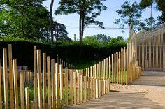 Architecture Collage, Landscape Architecture Design, Fence Landscaping, Modern Landscaping, Modern Fence Design, Rain Garden, Public Art, Permaculture, Exterior
