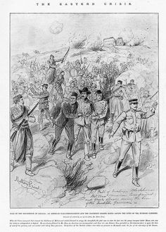 Greek officers and American journalist saving Ottoman troops following the fall of the Malaxa blockhouse