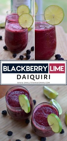 Treat yourself with a scrumptious beverage packed with high antioxidant levels! Blackberry Lime Daiquiri is an easy cocktail recipe that features lime, rum, and fresh blackberries. Perfect for a little rest and relaxation you must have every now and then! Tequila, Vodka, Easy Cocktails, Cocktail Recipes, Drink Recipes, Martini Recipes, Punch Recipes, Superfood, Bbq Chicken Pizza