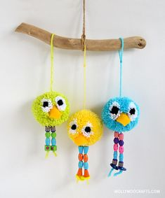 DIY Toy : DIY POM POM BIRD CRAFT