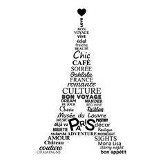 Fogas falmatrica - Eiffel torony - KaticaMatrica.hu - A minőségi falmatrica és faltetoválás webáruház