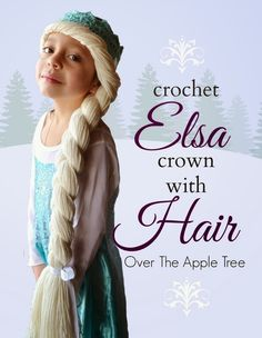 How to crochet an Elsa crown with hair