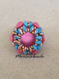 PATTERN & TUTORIAL   MARINABEADS Beading Tutorials, Beading Patterns, Beaded Rings, Beaded Bracelets, Bracelet Tutorial, Sell Items, Seed Beads, Jewels, Pendants