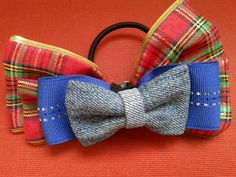 ribbon bow ponytail holder 100L