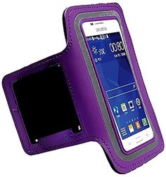 """myLife Royal Purple Black and Gray {Rain Resistant Velcro Secure Running Armband} Dual-Fit with Key Slot Jogging Arm Strap Holder for Samsung Galaxy S5 """"All Ports Accessible"""" myLife Brand Products http://www.amazon.com/dp/B00SLUATBG/ref=cm_sw_r_pi_dp_ttG-ub0W3RV5P"""