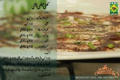 Khatti Methi Imli Ki Chatni Urdu Recipe by Shireen Anwer