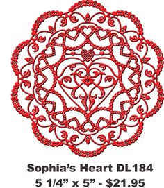 LOVE this new die called Sophia's Heart from Cheery Lynn  Designs!